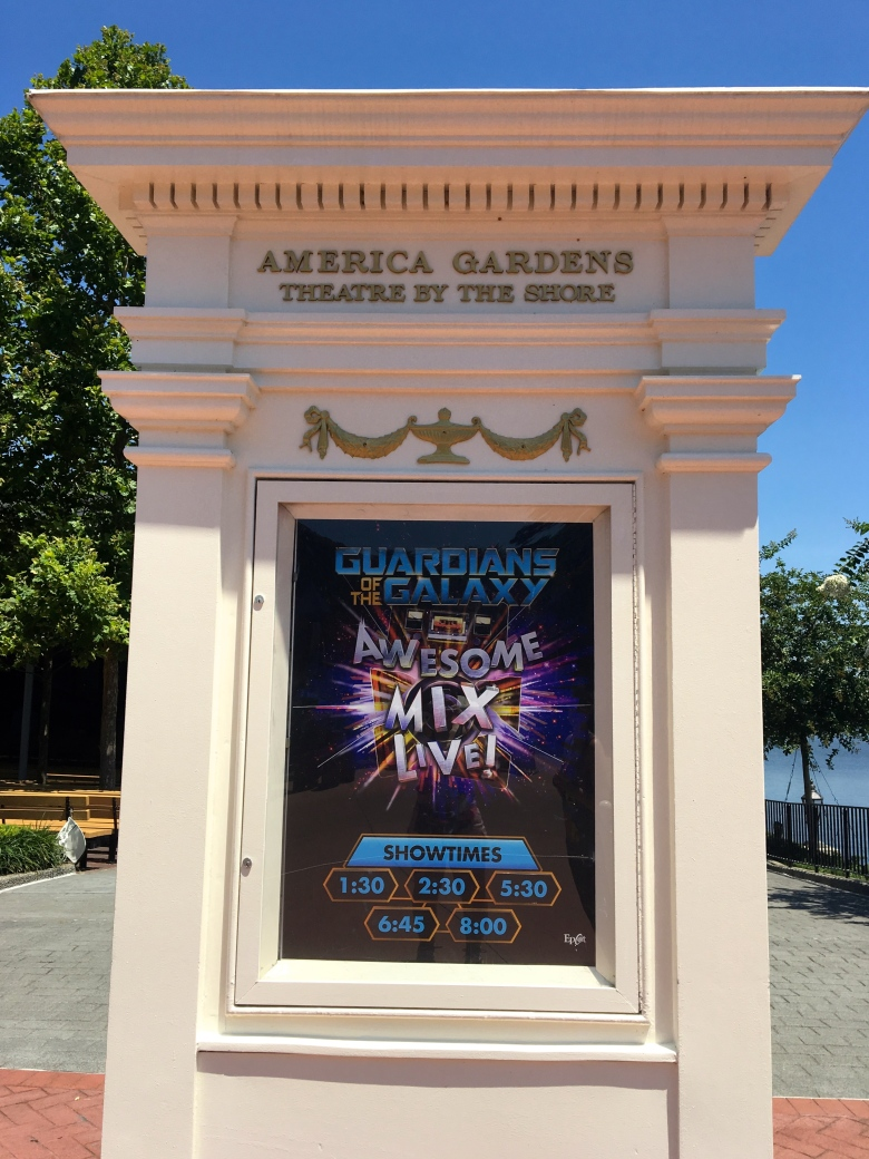 Disney World, Epcot, Guardians of the Galaxy, Awesome Mix Live Show