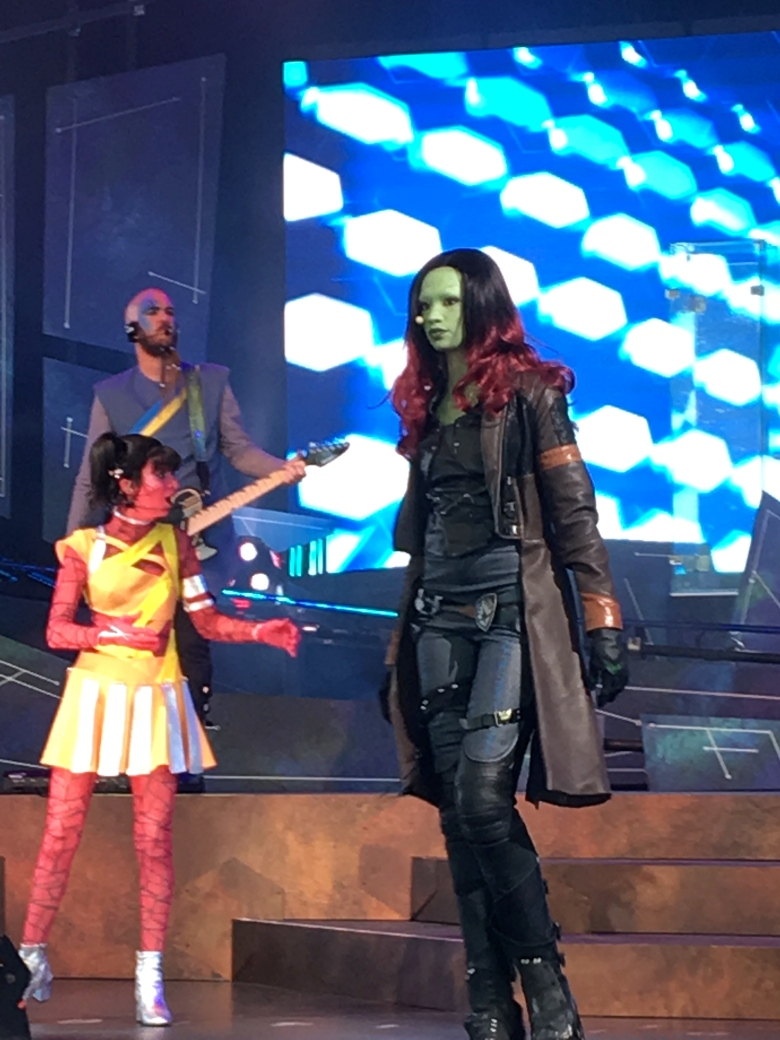 Gamora, Epcot, Guardians of the Galaxy Awesome Mix Live Show