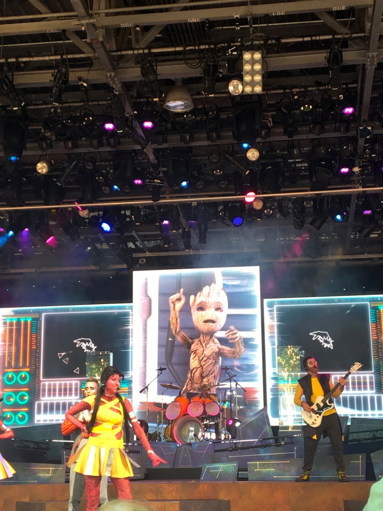 Epcot, Groot, Guardians of the Galaxy Awesome Mix Live Show